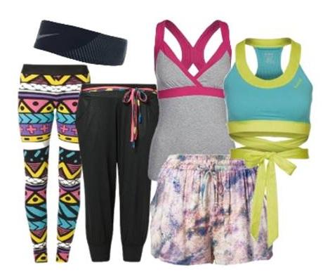 Zumba Outfits, Tops und Hosen
